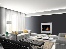 entrancing design ideas of modern living room with cream color
