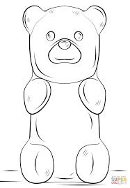 gummy bear coloring page free printable coloring pages inside