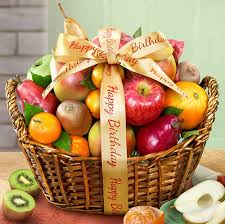 basket fruit happy birthday fruit basket lal apple