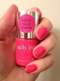 review swatches photos nails inc london new neon glitter and