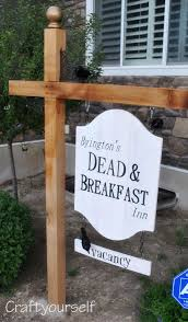 dead and breakfast sign craft