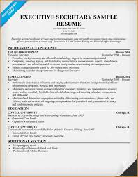 Sample Resume Executive by 12 Cover Letter For Executive Secretary Resume Basic Job