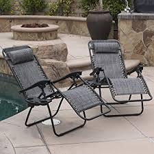 Zero Gravity Chair Table Amazon Com Belleze 2 Pack Zero Gravity Chairs Patio Lounge Cup