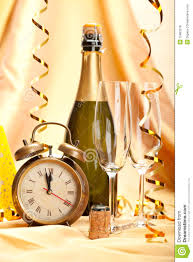 Decoration Happy New Year Happy New Year Champagne And Party Decoration Stock Image