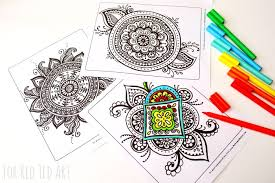 colouring pages grown ups meaningful mandalas red ted