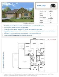 Aho Construction Floor Plans Plan 1413 Aho Northwest