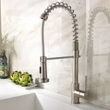 best kitchen faucet with sprayer ufaucet best single handle brushed nickel pull out high arch prep