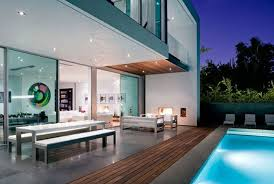 modern home design with pool homes zone