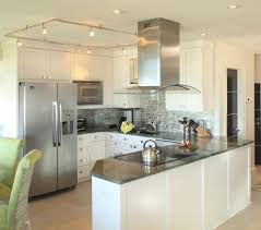 Kitchen With Track Lighting by Good Looking Condo Kitchen Kitchen Beach Style With Kitchen