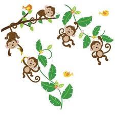 Monkey Nursery Wall Decals Jungle Safari Wall Decals You Ll Wayfair