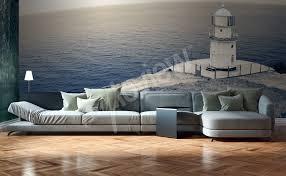 sea view living room murals sea u2022 to size of wall myloview com