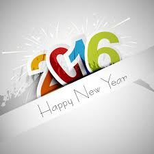 happy new year 2016 greeting card vector free