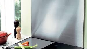 plaque aluminium pour cuisine la crédence se pare de métal diaporama photo