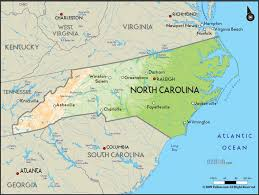 Geographical Map North Carolina Travel Map Vacations Travelsfinders Com