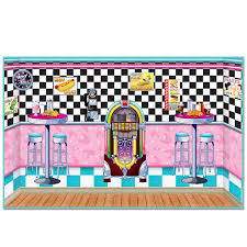 halloween scene setters 1950 u0027s diner backdrop kit 1950 u0027s soda shop scene kit things i