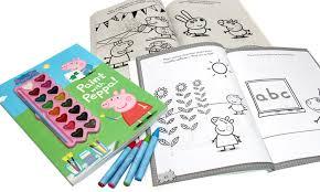 peppa pig children u0027s art activity book bundle 3 piece groupon