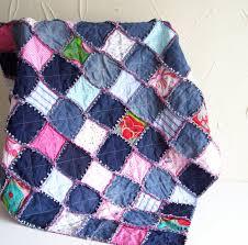 Denim Rag Rug Denim Rag Quilt Tutorial Pdf Pattern Picnic Blanket