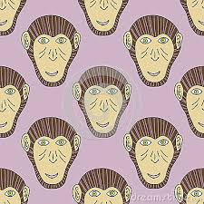 new year wrapping paper monkey print chimpanzee seamless pattern vector background for