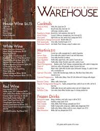 blue martini menu drink menu www warehouseeatery com