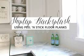 Faux Shiplap Backsplash With Peel N Stick Flooring - Backsplash peel and stick