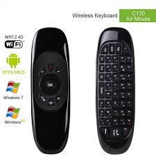 android keyboard with microphone gyroscope fly air mouse c120 wireless keyboard android remote