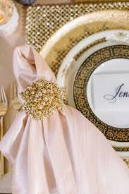 light pink dinner napkins pink and gold wedding ideas for your ceremony reception dinner