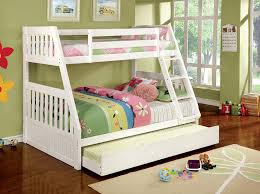 Mission Style Bedroom Furniture Amazon Com Furniture Of America Garvey Twin Full Bunk Bed White