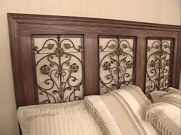 Wood Headboard Diy How To Build A Wrought Iron Panel Headboard Hgtv