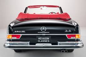 classic mercedes convertible mercedes benz 280 se 1970 hexagon