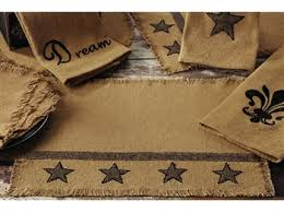 burlap star placemat from india home fashions new burlap star