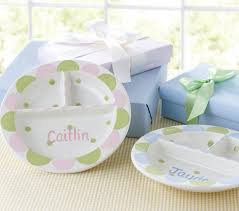 personalized ceramic plate personalized divided plates pottery barn kids