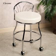 Vanity Chairs For Bathroom Rolling Vanity Chair Modern Chairs Quality Interior 2017