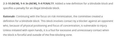 Blind Side Definition 2017 High Football Rule Changes And Could You Officiate