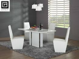 modern white dining table set emejing dining room chairs
