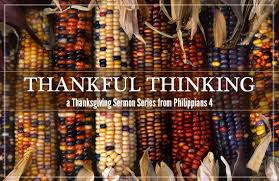 thankful thinking sermon series community baptist church