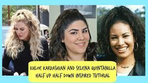 khloe kardashian and selena inspired half up half down hair