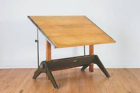 Wooden Drafting Table Industrial Drafting Table Nike La Boutique Vintage Antique