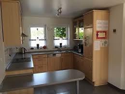 buche küche nobilia küche buche fina in u form incl elektrogeräten ebay