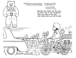 bike safety coloring pages at best all coloring pages tips