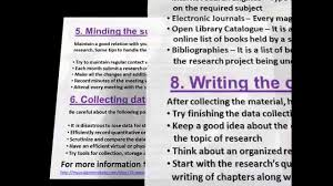 Thesis Catalogue 10 Steps To Complete A Phd Dissertation Plan Youtube