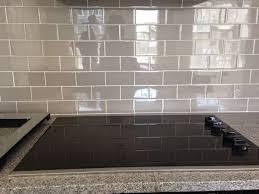 Gray Subway Tile Backsplash Smoke Gray Glass Tile Backsplash - Gray glass tile backsplash