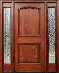 Stain Exterior Door Mahogany Doors With Sidelights Pre Finished