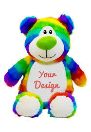 Engraved Teddy Bears Personalized Rainbow Teddy Bear Personalized Teddy Bears Cubbies