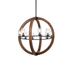 Wood Orb Chandelier Hall Wood Orb Chandelier With White Ceramic Floor And Small