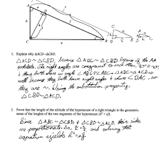 geometric mean proof students are asked to prove that the length