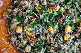 quinoa miso salad with lentils roasted butternut squash garden