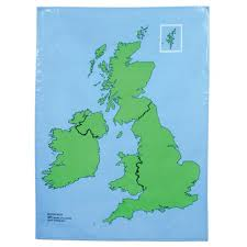 Map Of The British Isles British Isles Outline Map From Early Years Resources Uk