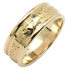 mens claddagh ring wedding ring men s wide corrib claddagh wedding band at