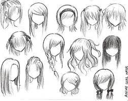 anime hairstyles tutorial girl anime hair drawing artwork pinterest anime hair