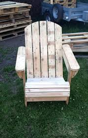 How To Make Pallet Patio Furniture by How To Build A Pallet Adirondack Chair